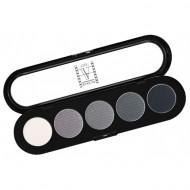 Палитра теней, 5 цветов Make-Up Atelier Paris T12 черно-белые тона: фото