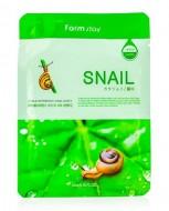 Маска с экстрактом улитки FARMSTAY Snail visible difference mask sheet 23 мл: фото