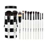 Набор кистей MORPHE SET 706 - 12 PIECE BLACK AND WHITE TRAVEL SET: фото