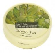 Крем очищающий с экстрактом зеленого чая THE FACE SHOP Herb day cleansing cream 150мл: фото