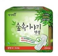 Прокладки гигиенические с эвкалиптом YEJIMIN Tencel sanitary pad (medium) 16шт (средние): фото