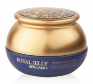 Омолаживающий крем с маточным молочком BERGAMO Royal jelly wrinkle care cream 50г: фото