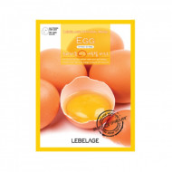 Тканевая маска для лица с экстрактом яйца Lebelage Egg Natural Mask, 23г: фото
