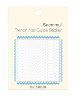 Наклейки для французского маникюра THE SAEM French Nail Guide Sticker 01 Zig Zag: фото