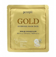 Маска гидрогелевая c ЗОЛОТОМ PETITFEE Gold Hydrogel Mask Pack 5 шт: фото