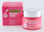 Крем для лица с коллагеном ZENZIA Collagen Ampoule Cream: фото